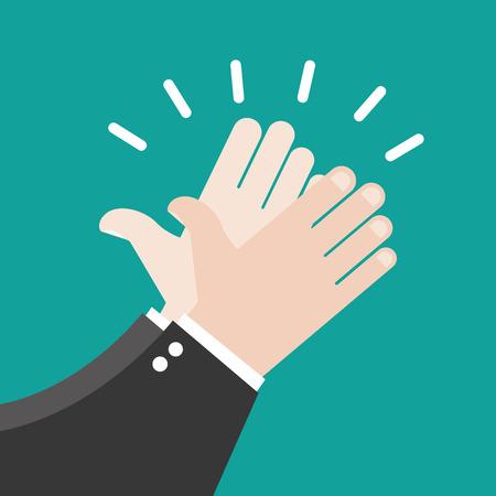 Illustration pour Hands clapping vector icons - image libre de droit