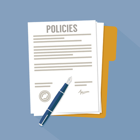 Illustration pour Policies document - image libre de droit