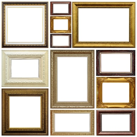 Photo for Antique frame isolated on white background - Royalty Free Image