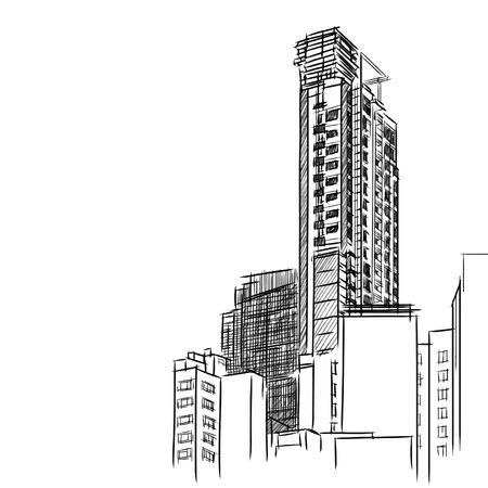 Ilustración de Condominium sketchbook  - Imagen libre de derechos