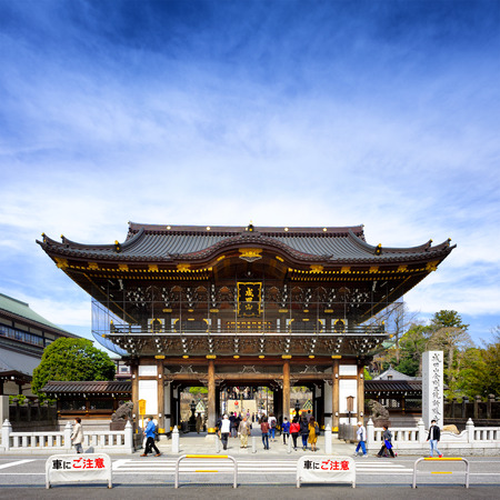 Photo pour CHIBA JAPAN - MARCH 26, 2018 : Narita san Shinshoji temple, Popular tourists come here because it is an ancient temple with magnificent architecture. Have a fascinating history. - image libre de droit