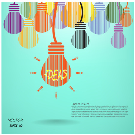 Ilustración de Creative light bulb, Business and ideas concepts,Vector illustration  - Imagen libre de derechos