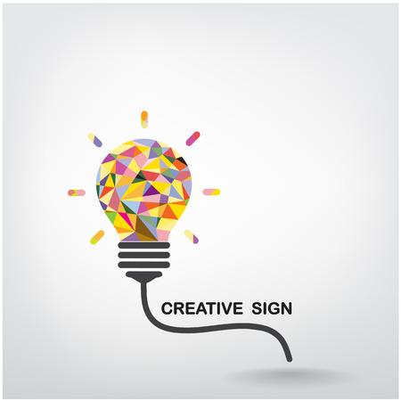 Illustration pour Creative light bulb Idea concept background design  - image libre de droit