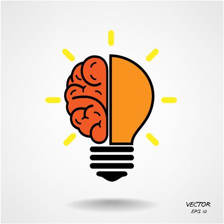 Illustration pour Creative brain Idea concept background design  - image libre de droit