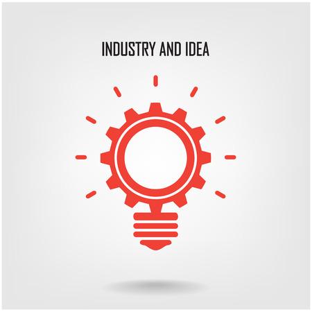 Illustration pour Creative light bulb concept background design for poster flyer cover brochure  - image libre de droit