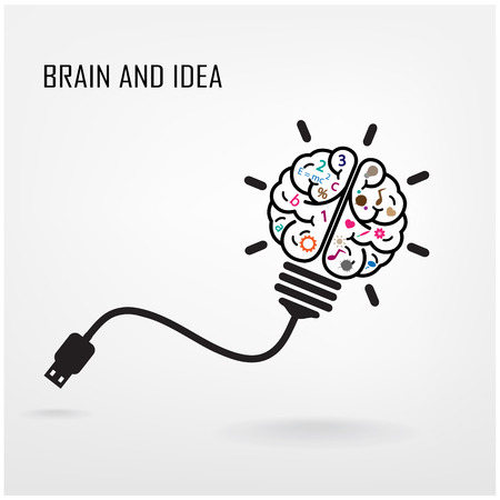 Illustration pour Creative brain Idea concept background design - image libre de droit