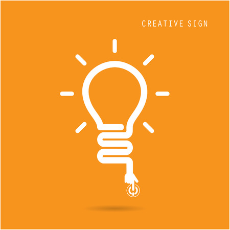 Illustration pour Creative light bulb concept, design for poster flyer cover brochure, business idea, education concept.vector illustration - image libre de droit