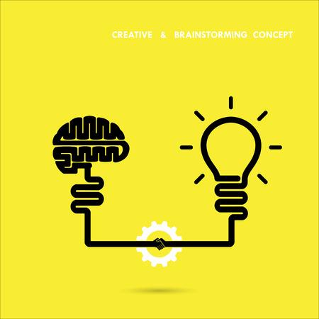 Illustration pour Creative brainstorm concept business and education idea, innovation and solution, creative design, vector illustration - image libre de droit
