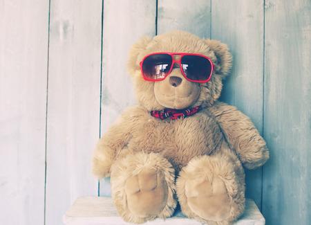 Photo pour Vintage photo of Teddy bear toy - image libre de droit