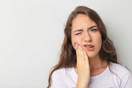 Photo for Young woman have a toothache - Royalty Free Image
