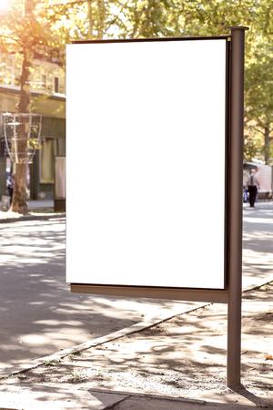 Photo pour Blank advertising board on street - image libre de droit