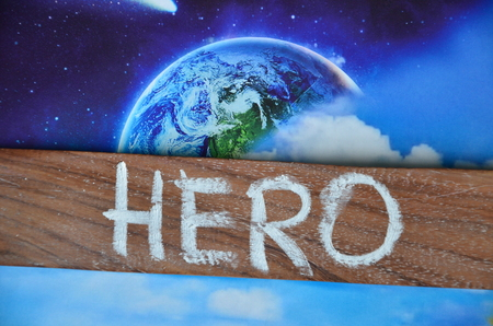 Photo for word hero - Royalty Free Image
