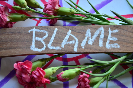 Photo for WORD BLAME - Royalty Free Image