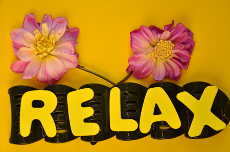 Photo for relax word - Royalty Free Image
