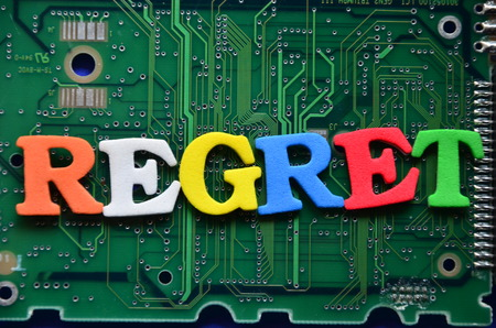 Photo for word regret on an abstract background - Royalty Free Image