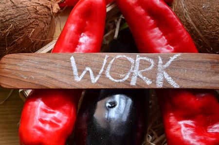 Foto de Word WORK on an abstract background - Imagen libre de derechos