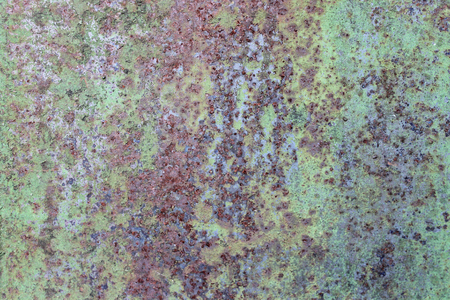 Photo for Old dirty metal rust wall, green grunge background - Royalty Free Image