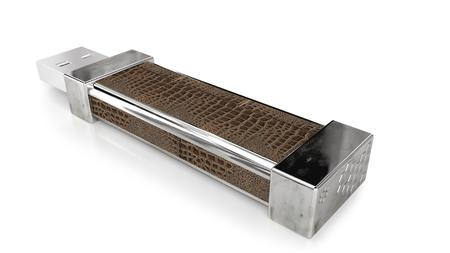 Photo pour 3D-visualization of falsh memory stick. Flash drive visualization - image libre de droit