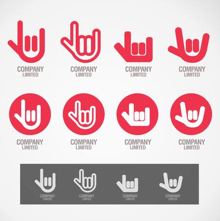Illustration pour Symbol design \Rock hand and Love hand\ concept - image libre de droit
