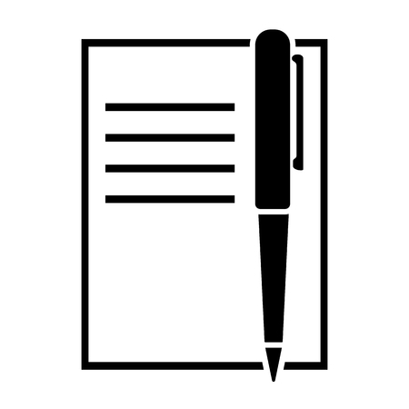Illustration for Pen and copybook icon vector illustration - Royalty Free Image