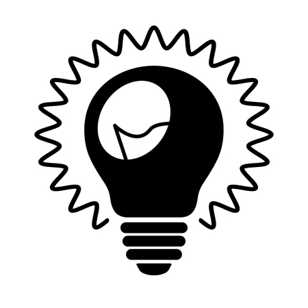 Ilustración de Bulb icon. Shining light bulb with rays and wire filament. Suitable for idea, invention or discovery concept sign. Vector Illustration - Imagen libre de derechos