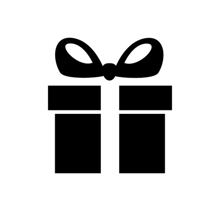 Illustration for Gift box line icon. Holiday box with ribbon containing presents and gifts. Vector Illustration - Royalty Free Image