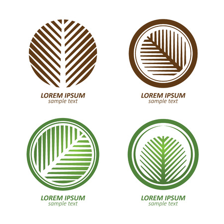 Illustration pour Green Circle palm Tree vector logo design. eco concept.Vector Illustration. - image libre de droit