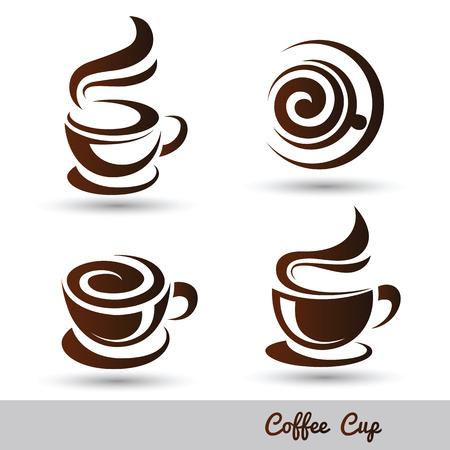 Ilustración de coffee cup set vector,illustration - Imagen libre de derechos