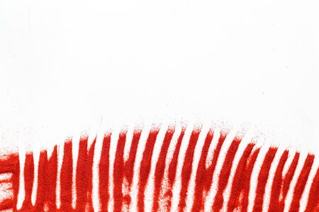 Photo for Abstract pattern with red sand texture on white background top view mock up - Royalty Free Image
