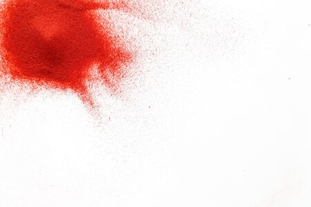 Photo for Abstract pattern with red sand texture on white background top view mockup - Royalty Free Image