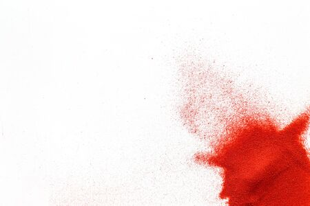 Photo for Modern design for blor with red sand texture on white background top view mockup - Royalty Free Image