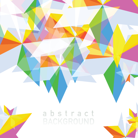 Illustration for Vector illustration of Abstract geometric background with place for your text. - Royalty Free Image