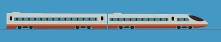 Illustration pour Passenger express train. Railway carriage ,Vector Illustration - image libre de droit
