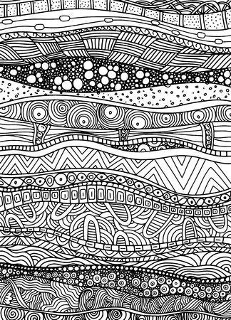 Illustration pour Vector pattern with zentangle background. Pattern for invitations, posters, antistress coloring. - image libre de droit
