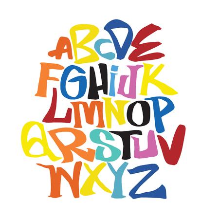 Illustration pour Hand lettering sketch font. Vector alphabet - image libre de droit