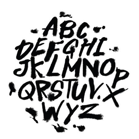 Ilustración de Hand drawn alphabet letters. Marker handwritten font. Isolated letters, doodle font illustration. - Imagen libre de derechos
