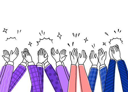 Illustration pour Applause hand draw,Human hands clapping ovation. doodle style ,vector illustration - image libre de droit