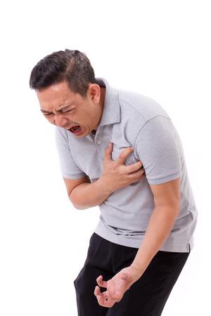 Foto de sick man suffering from heart attack - Imagen libre de derechos
