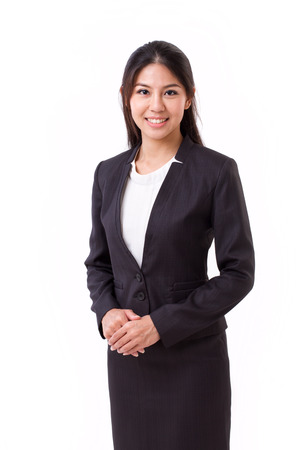 Photo pour confident asian businesswoman isolated - image libre de droit