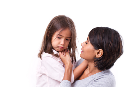 Photo for mother comforting crying daughter, concept of caring parent - Royalty Free Image