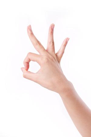 Foto de ok hand sign gesture - Imagen libre de derechos