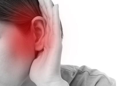 Foto de woman with hearing loss or hard of hearing - Imagen libre de derechos