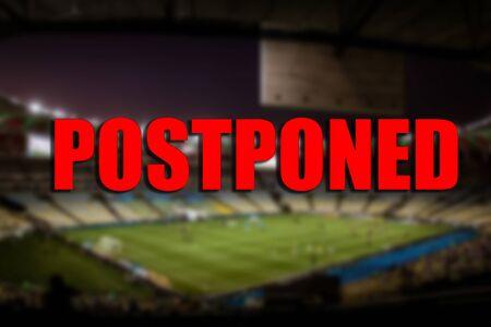 Photo pour The concept of postponement of sports events. - image libre de droit