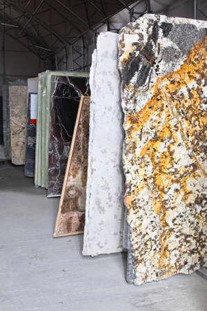 Foto de Distribution warehouse with marble and granite stones - Imagen libre de derechos