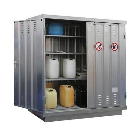 Foto de Storage of hazardous and combustible materials locker isolated - Imagen libre de derechos