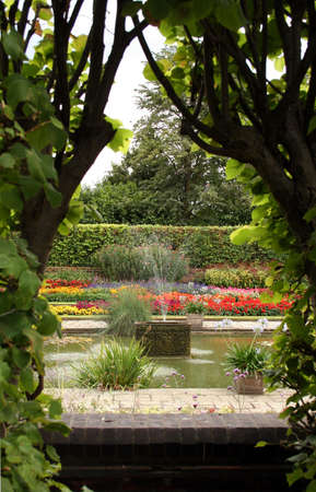 The formal gardens at Kensington Palace