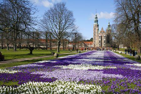 Springtime Rosenborg Castle - the Kings Garden - Copenhagen, Denmark