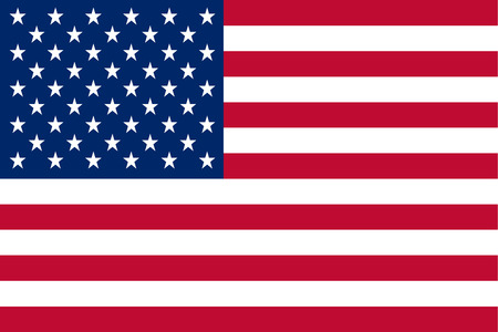 Illustration pour The flag of the United States of America made to a 2:3 ratio.  Many commerical flags are displayed as a 2:3 ratio - image libre de droit