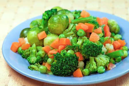 Boiled various vegetables for dietic food