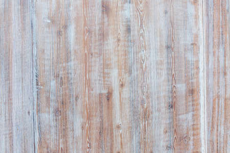 Photo pour Aged wooden background of weathered distressed rustic wood boards with faded light blue paint showing brown woodgrain texture - image libre de droit
